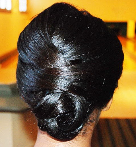 Diy Wedding African American Hairstyle Twisted Low Bun Final With Regard To Low Twisted Bun Wedding Hairstyles For Long Hair (View 23 of 25)