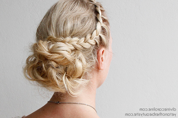 Diy Your Wedding Day Hairstyle With This Braided Updo | More Pertaining To Side Lacy Braid Bridal Updos (Gallery 4 of 25)