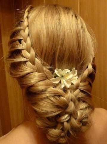 Double Side Lace-Braids Into An Up-Do. | Hair | Pinterest | Hair regarding Side Lacy Braid Bridal Updos