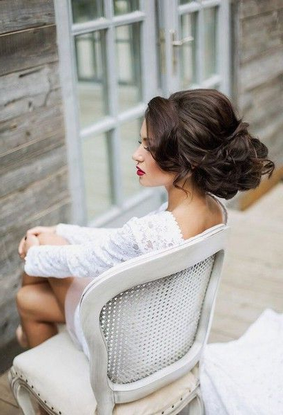 Featured Photo of Lifted Curls Updo Hairstyles For Weddings