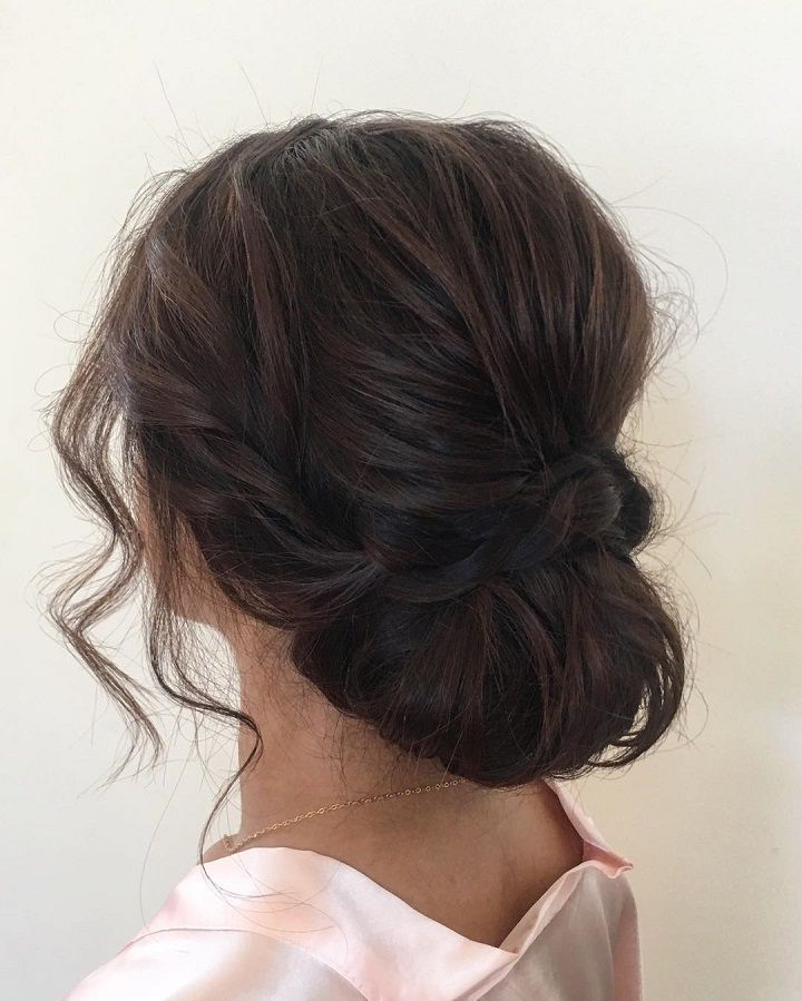 Drop Dead Gorgeous Loose Updo Hairstyle | Dressed | Pinterest Regarding Pinned Brunette Ribbons Bridal Hairstyles (View 3 of 25)
