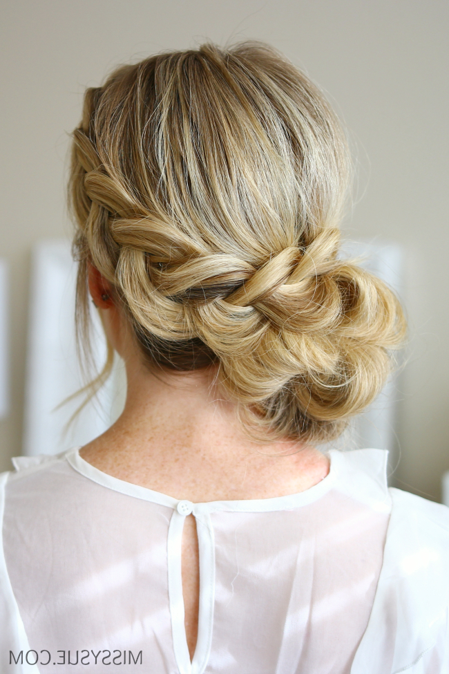 Dutch Braids inside Side Lacy Braid Bridal Updos