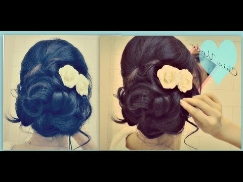 ?Easy Prom Wedding Hairstyles With Curls| Formal Updos For Medium In Curly Bun Bridal Updos For Shorter Hair (View 22 of 25)