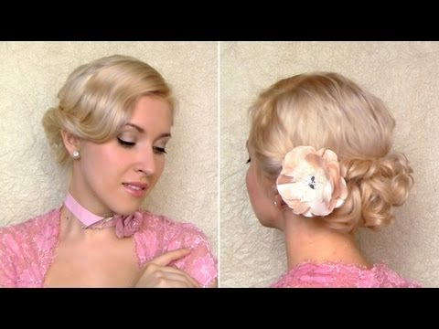 Easy Valentine's Day, Prom Hairstyle For Medium Hair Curly Wedding Within Formal Curly Updos With Bangs For Wedding (View 23 of 25)