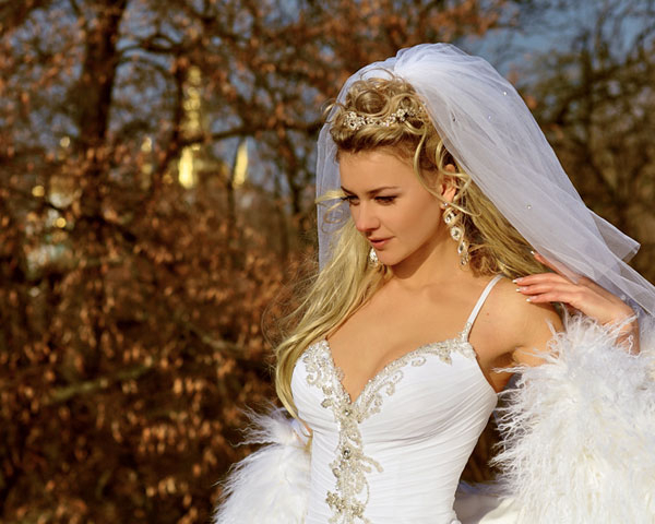 Elegant Half Down Wedding Hairstyles For | Sophie Hairstyles – 18947 With Regard To Blonde Half Up Bridal Hairstyles With Veil (View 7 of 25)
