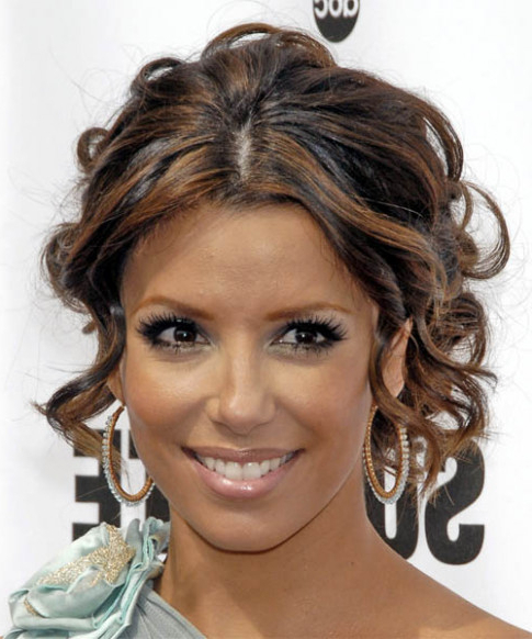 Eva Longoria Parker Updo Long Curly Formal Wedding Updo Hairstyle Pertaining To Formal Curly Updos With Bangs For Wedding (View 24 of 25)