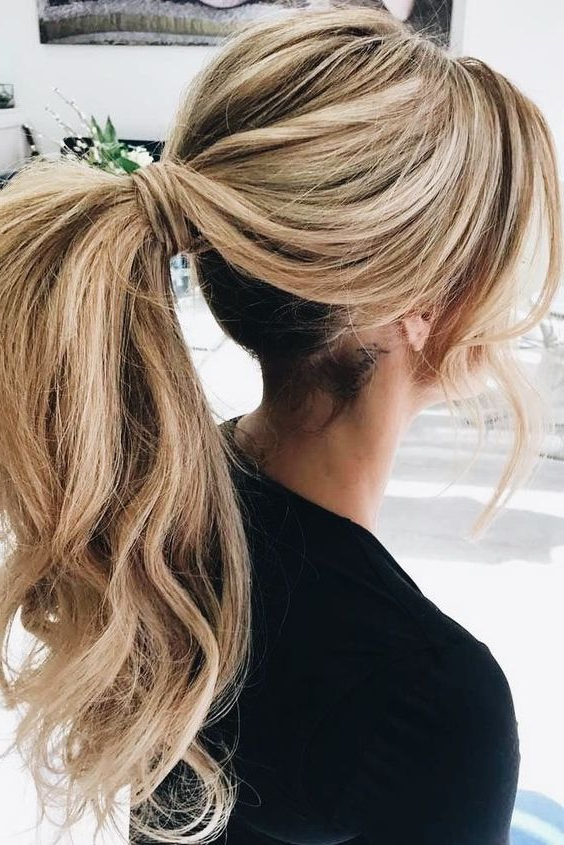 Fancy Pony Tail | Hair Ideas | Ponytail Hairstyles, Hair Styles, Hair regarding Fancy Flowing Ponytail Hairstyles For Wedding