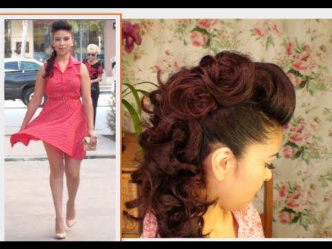 Faux Hawk Hair Tutorial Homecoming Hair Idea - Youtube for Formal Faux Hawk Bridal Updos