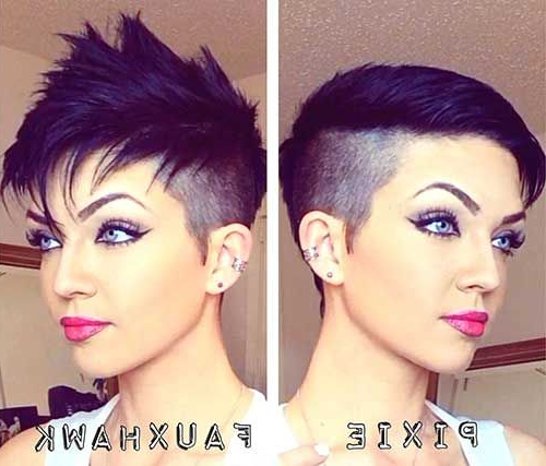 Faux Hawk Shaved Sides Pixie | ?Hair? | Pinterest | Short Hair with Short Hair Wedding Fauxhawk Hairstyles With Shaved Sides