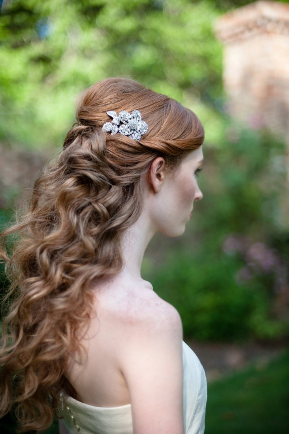 Feminine Long Wavy Bridal Hairstyles Collection -Dreampurple.co.uk regarding Twists And Curls In Bridal Half Up Bridal Hairstyles