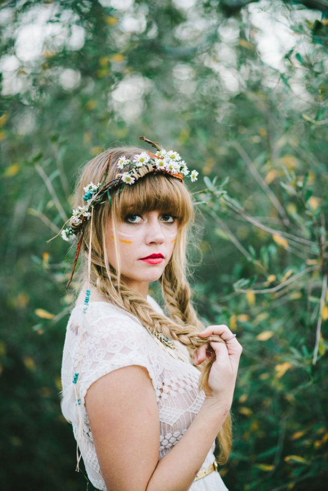 Free Spirited Bohemian Diy Wedding | Bohemian Diy Weddings, Flower Within Bohemian And Free Spirited Bridal Hairstyles (View 15 of 25)
