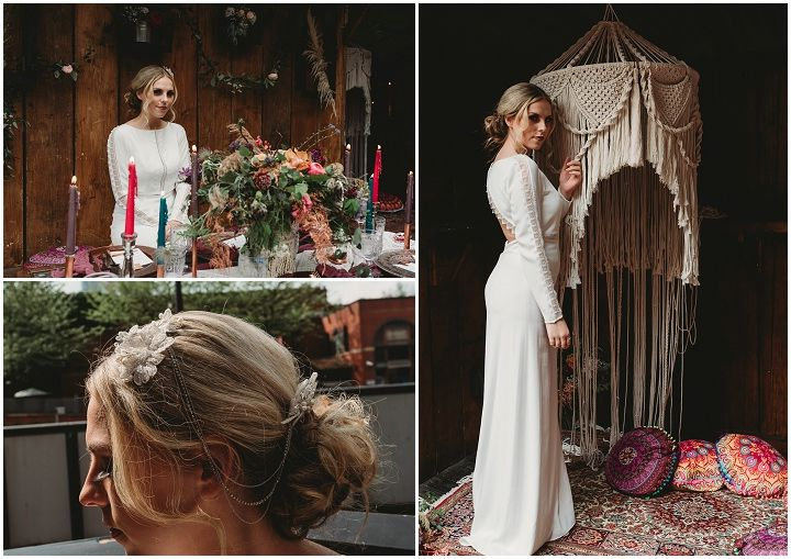 Free Spirited Wedding Inspiration – Bohemian Meets Urban Industrial Throughout Bohemian And Free Spirited Bridal Hairstyles (View 20 of 25)