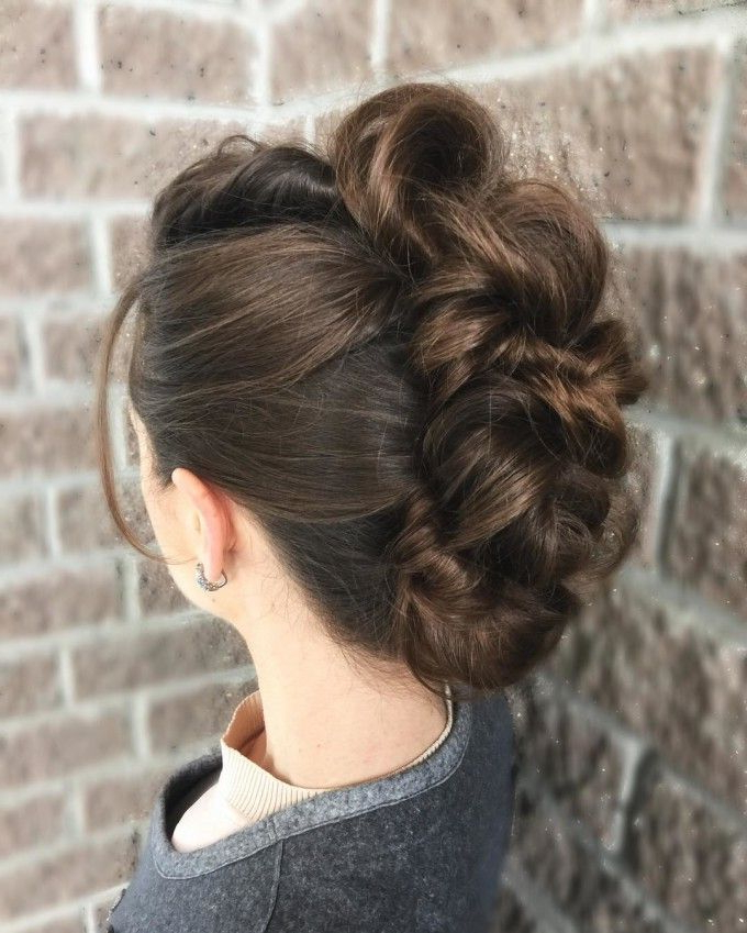 French Twist – Sectioned To Look As A Mohawk With Sub Section Twist For Sectioned Twist Bridal Hairstyles (View 3 of 25)