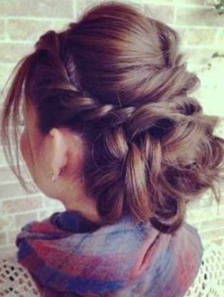 French Twist With A Bouffant And Low Bun Elegant Hairstyles For Regarding Lovely Bouffant Updo Hairstyles For Long Hair (View 18 of 25)