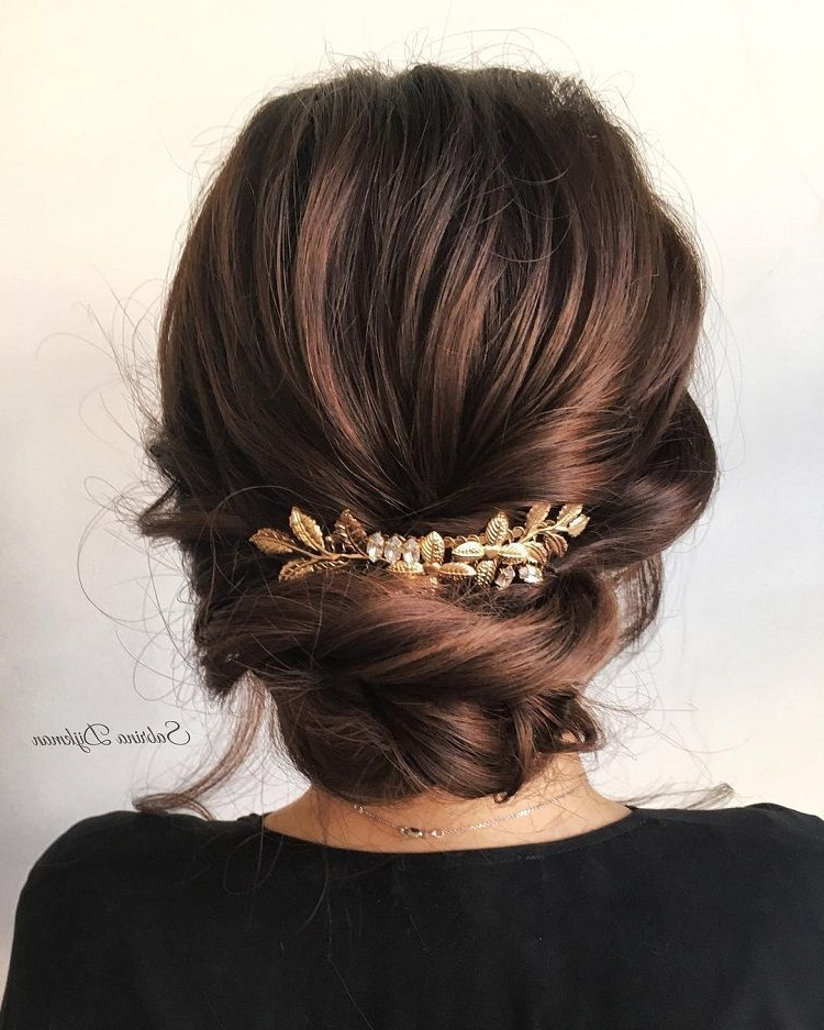 From Soft And Romantic, To Classic With Modern Twist These Romantic For Modern Updo Hairstyles For Wedding (View 14 of 25)