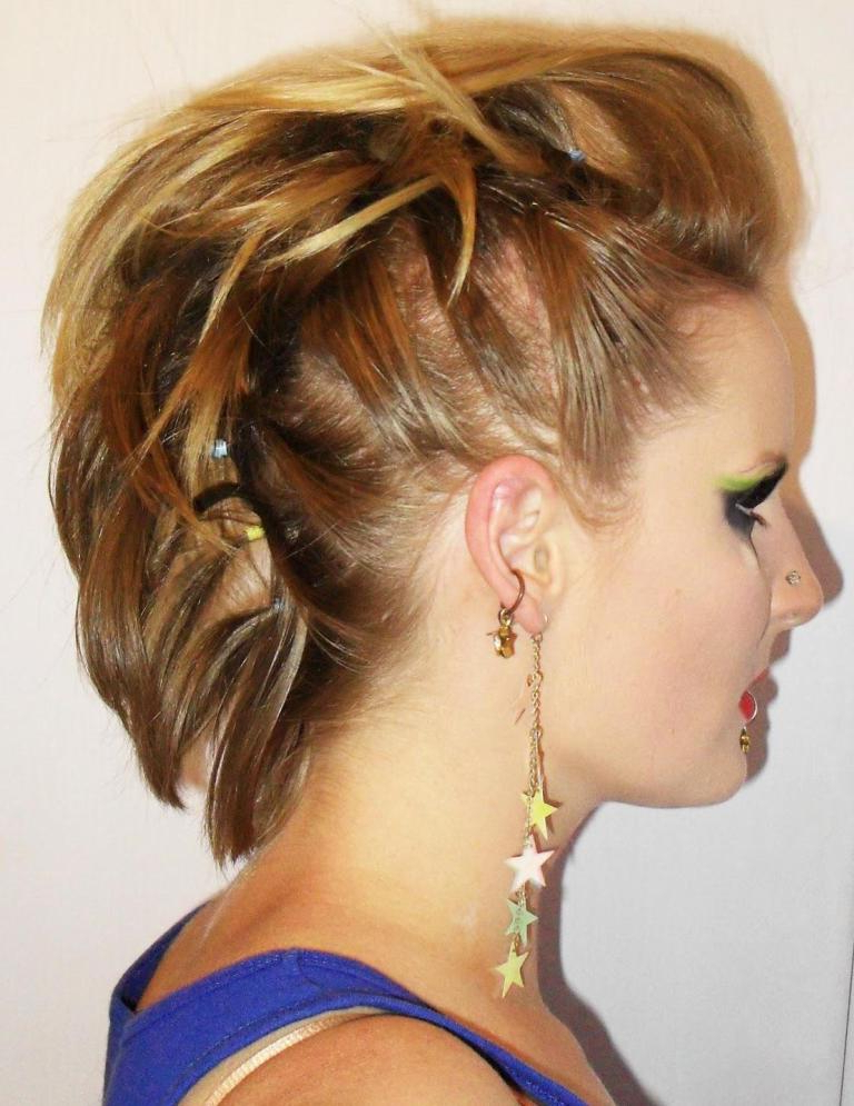 Girl Side Faux Hawk Hairstyles — Wedding Academy Creative : Faux in Short Hair Wedding Fauxhawk Hairstyles With Shaved Sides