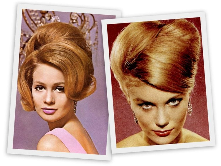 Goodbye, Bouffant – Hello, Beehive! The Hot Hairstyle Of 1960 Pertaining To Bridal Mid Bun Hairstyles With A Bouffant (View 22 of 25)
