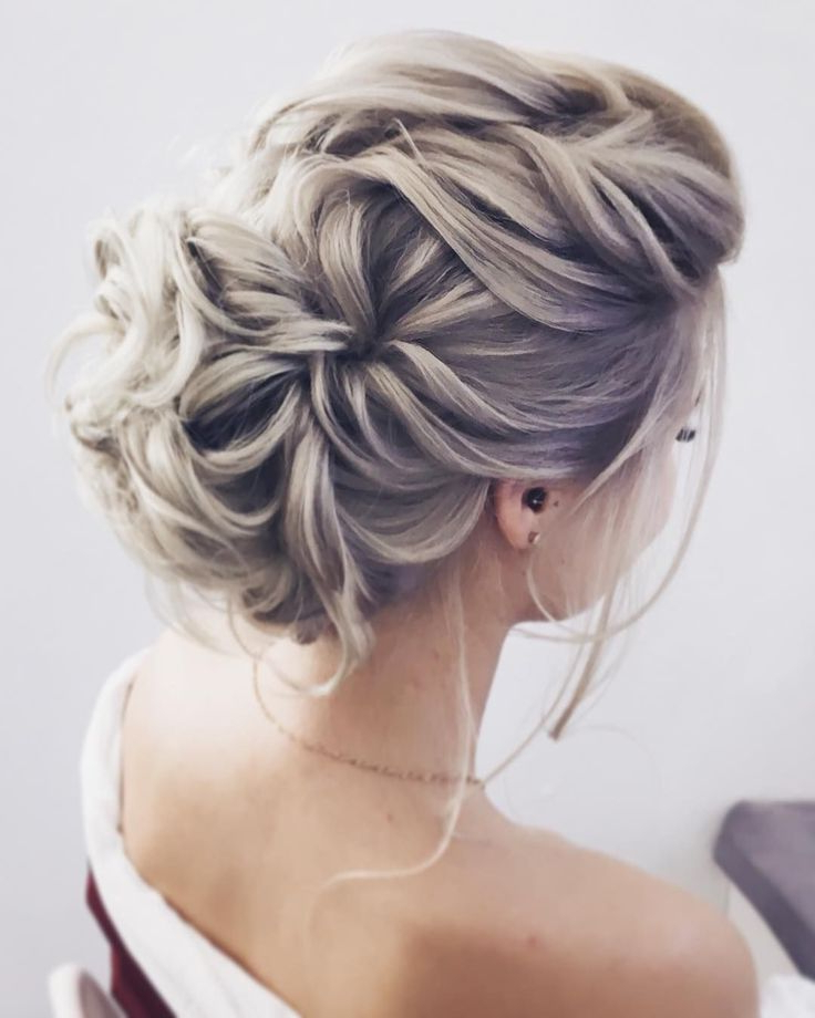 Gorgeous Feminine Wedding Hairstyles For Long Hair | Hair Inside Messy Bridal Updo Bridal Hairstyles (View 4 of 25)