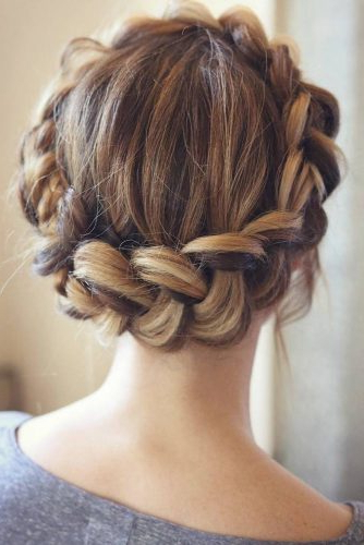 Gorgeous Ideas Of Dutch Braid Hairstyles 2018 – My Stylish Zoo In Highlighted Braided Crown Bridal Hairstyles (View 13 of 25)