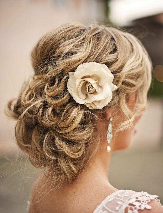 Gorgeous Wedding Hairstyles | Time For The Holidays Pertaining To Curly Wedding Updos With Flower Barrette Ties (Gallery 12 of 25)
