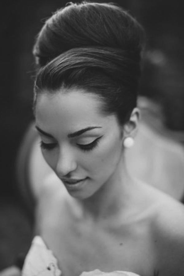 Gorgeous Wedding Updos For Every Bride | Bridal Hairstyles Inside Sleek And Voluminous Beehive Bridal Hairstyles (Gallery 6 of 25)