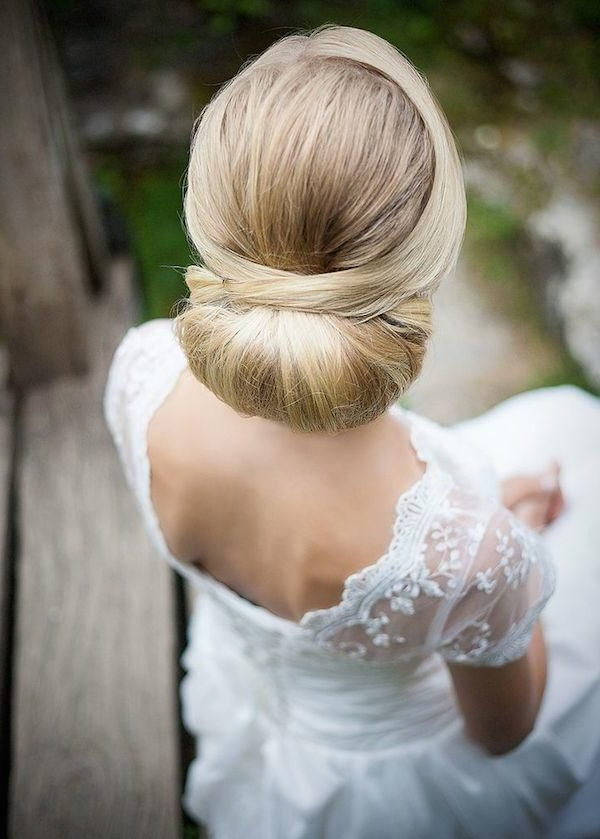 Gorgeous Wedding Updos For Every Bride | Updo Wedding Hairstyles Intended For Sleek Low Bun Rosy Outlook Wedding Updos (Gallery 6 of 25)