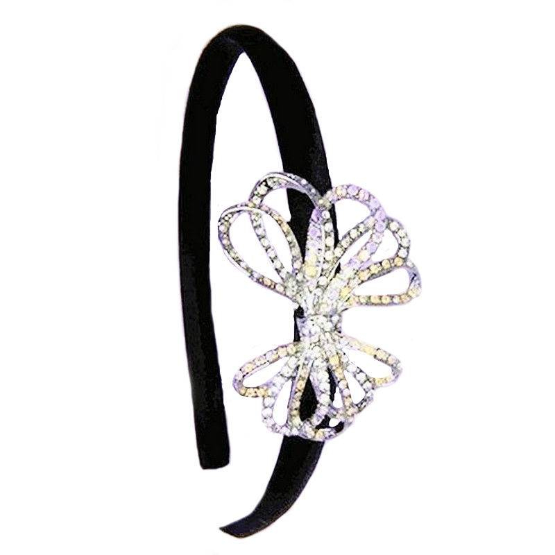 Hair Jewelry Headbands And Crystal Ponytail Holders With Ponytail Bridal Hairstyles With Headband And Bow (View 22 of 25)