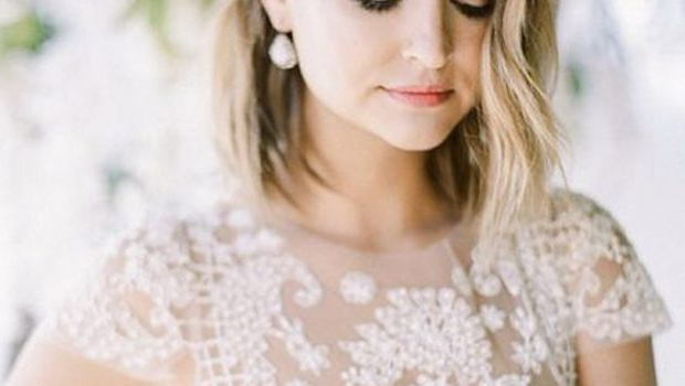 Hair Pulled Backa Golden Headband • The Sugar Styles Magazine Regarding Pulled Back Bridal Hairstyles For Short Hair (View 19 of 25)