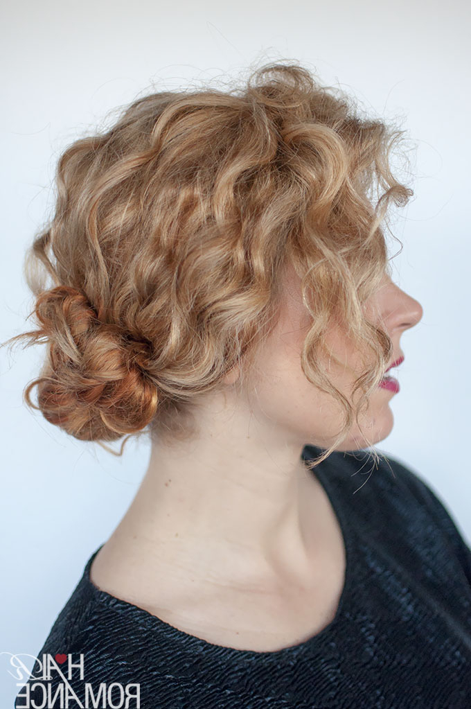 Hairstyle Tutorial For Curly Hair – The Double Bun – Hair Romance With Regard To Curly Bun Bridal Updos For Shorter Hair (View 19 of 25)