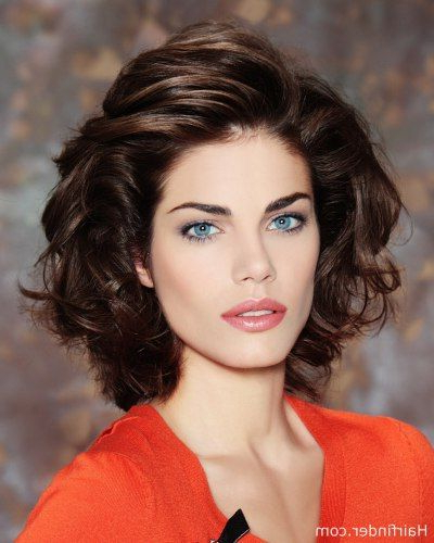 Hairstyle With Curls Brushed Towards The Back   Hair Styles In 2019 Pertaining To Brushed Back Beauty Hairstyles For Wedding (View 16 of 25)