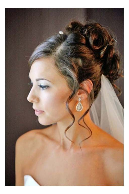 Hairstyles, Bridal Hairstyle All Up Side Part Curls With Tendrils regarding Curled Bridal Hairstyles With Tendrils