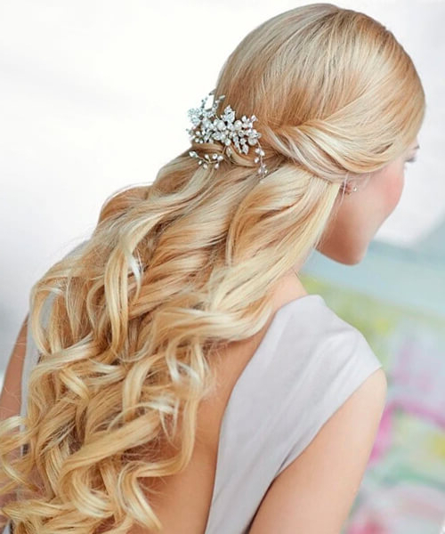 Hairstyles For Brides Inside Fabulous Cascade Of Loose Curls Bridal Hairstyles (View 21 of 25)