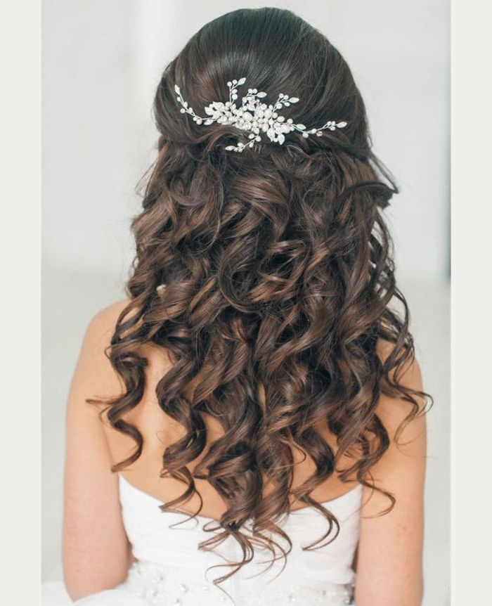 Hairstyles For Quinceanera Bridal Hairstyle For Re Styling, Silver Pertaining To Pearls Bridal Hairstyles (View 25 of 25)