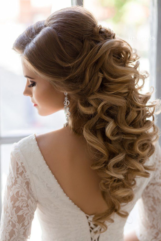 Half Up Curly Wedding Hairstyles – Wedding Hairstyles Regarding Half Up Curls Hairstyles For Wedding (View 13 of 25)