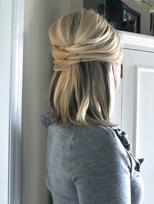 Half Up Half Down Hairstyles – 27 Awesome Examples | Design Press Regarding Easy Cute Gray Half Updo Hairstyles For Wedding (View 15 of 25)