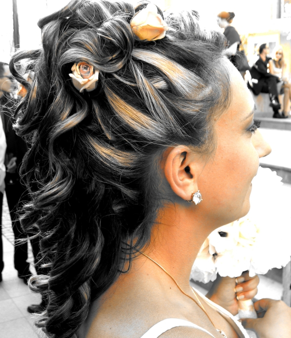 Half Up Half Down Hairstyles – 27 Awesome Examples | Design Press Regarding Golden Half Up Half Down Curls Bridal Hairstyles (View 23 of 25)