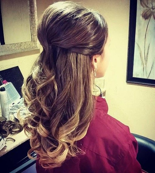 Half Up Half Down Hairstyles Collection Intended For Loose Curly Half Updo Wedding Hairstyles With Bouffant (View 10 of 25)