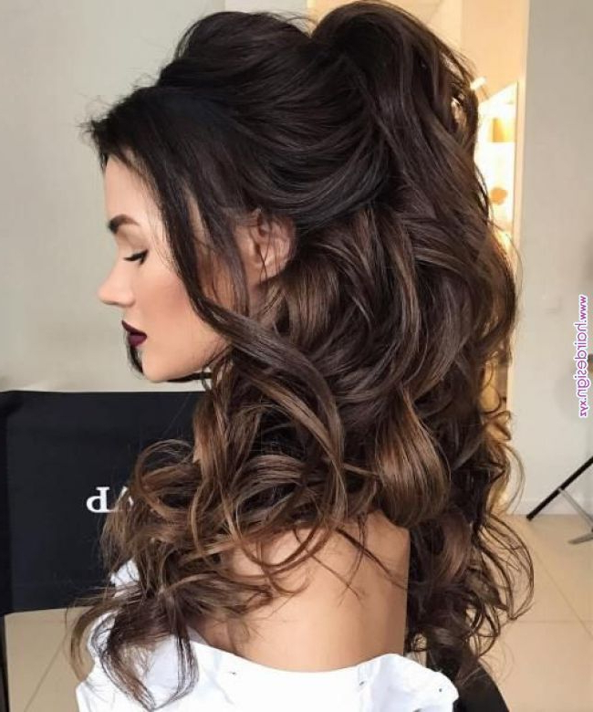 Half Up Half Down Wedding Hairstyles – 50 Stylish Ideas For Brides with regard to Voluminous Half Ponytail Bridal Hairstyles