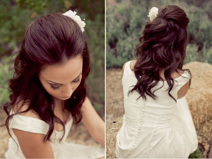 Half Up Half Down Wedding Hairstyles, Best Cuts Ideas Pertaining To Simple Halfdo Wedding Hairstyles For Short Hair (View 14 of 25)