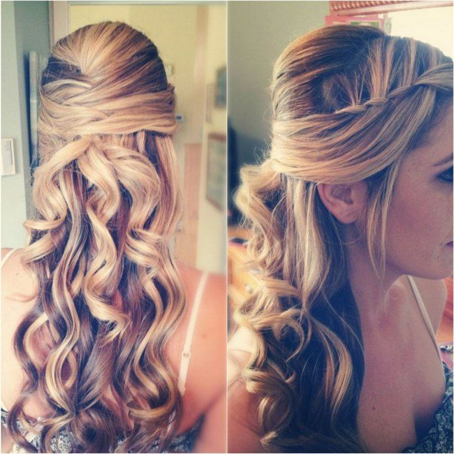 Half Up Half Down Wedding Hairstyles, Best Cuts Ideas Throughout Half Up Blonde Ombre Curls Bridal Hairstyles (View 15 of 25)