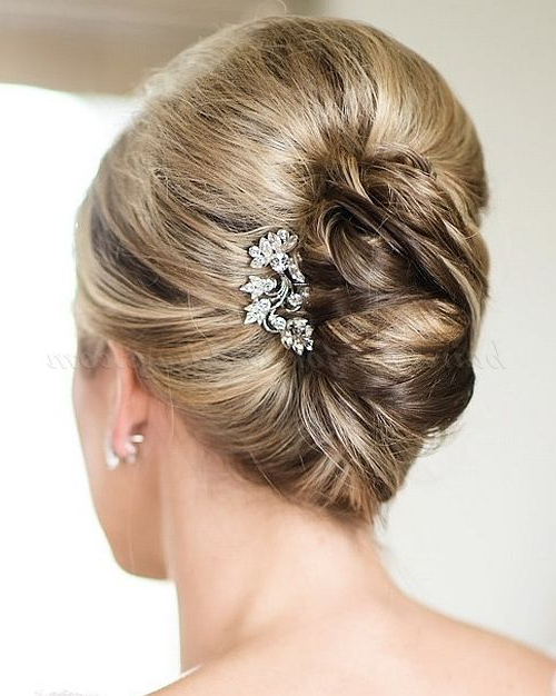 Half Updos For Mother Of The Bride | French Twist Hairstyles For Intended For Voluminous Chignon Wedding Hairstyles With Twists (View 11 of 25)