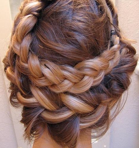 Highlighted Braid Crown – Chic Vintage Brides : Chic Vintage Brides Intended For Highlighted Braided Crown Bridal Hairstyles (View 4 of 25)