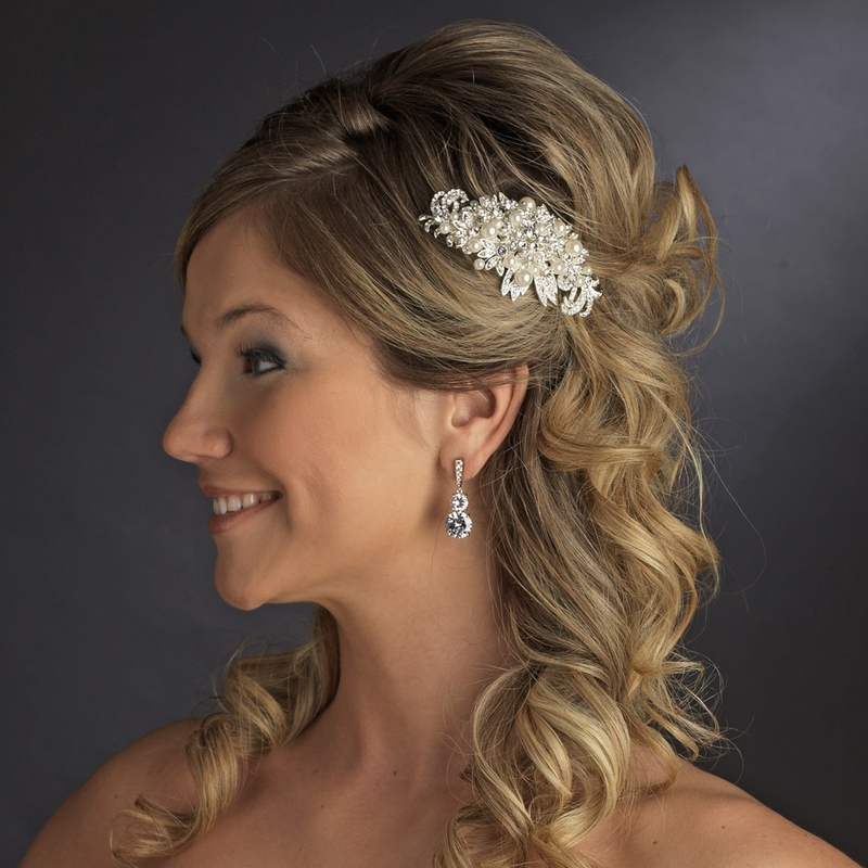 How To Choose The Right Hair Jewelry For Prom Night – Bridaltweet With Half Up Wedding Hairstyles With Jeweled Clip (View 10 of 25)