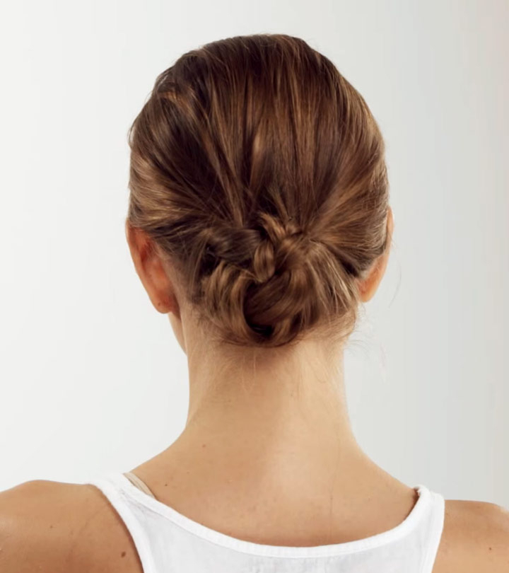 How To Do The Perfect Low Bun – A Step By Step Tutorial In Brushed Back Bun Bridal Hairstyles (View 12 of 25)