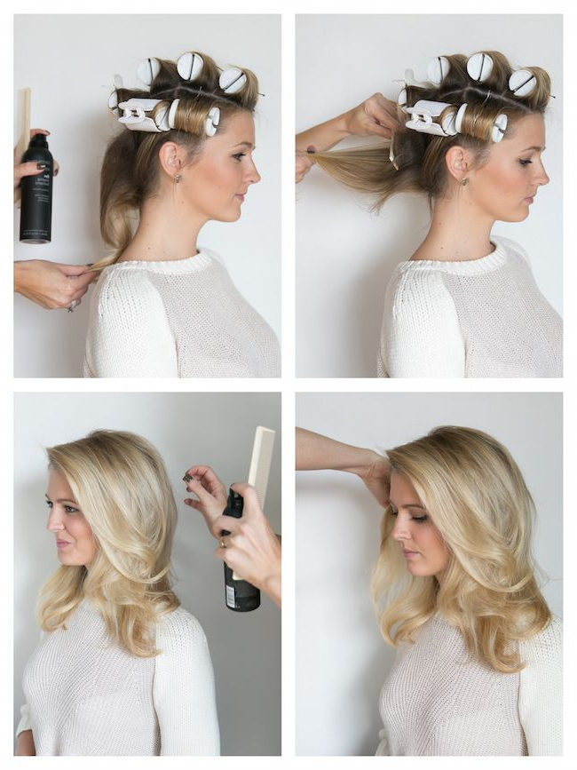 How To Hot Roll Your Hair! | Beauty | Hair, Hair Styles, Your Hair Regarding Large Hair Rollers Bridal Hairstyles (View 13 of 25)