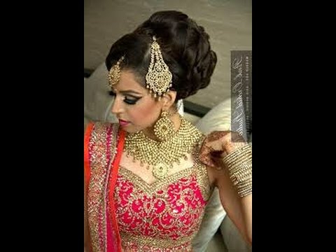 How To Make Best Hair Style Indian Bridal Juda | Indian Bridal Within Bridal Mid Bun Hairstyles With A Bouffant (View 16 of 25)