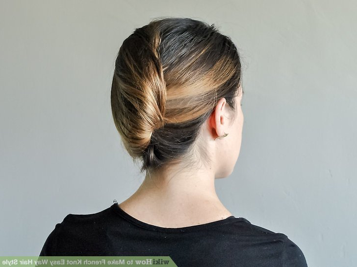 How To Make French Knot Easy Way Hair Style: 11 Steps For Sleek French Knot Hairstyles With Curls (View 22 of 25)