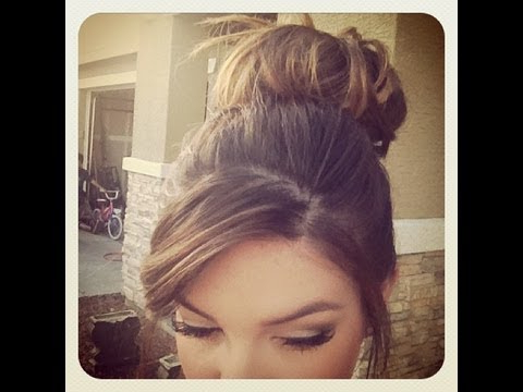How To: Messy Bun For Short/thin Hair ? – Youtube With Regard To Low Messy Bun Wedding Hairstyles For Fine Hair (View 14 of 25)