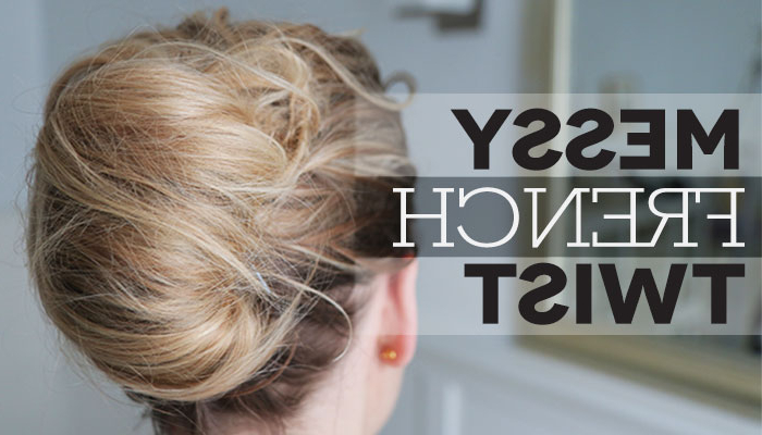 How To: Messy French Twist Intended For Messy French Roll Bridal Hairstyles (View 17 of 25)