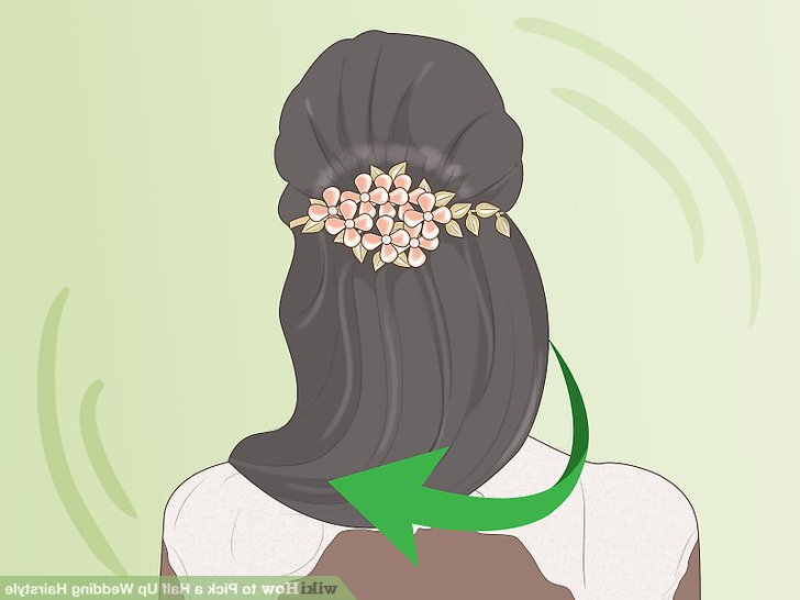 How To Pick A Half Up Wedding Hairstyle: 14 Steps (With Pictures) In Half Up Wedding Hairstyles With Jeweled Clip (View 17 of 25)